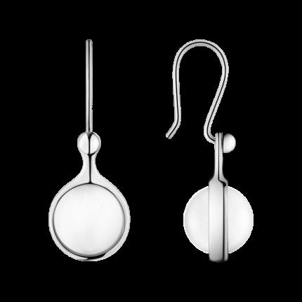 Georg Jensen, SPIRIT earrings - sterling silver with rock crystal
