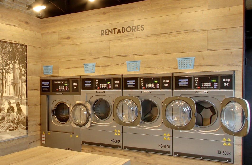 Lavanderia autoservicio y automatica en el barrio del eixample con how laundromat works or self service laundry works in barcelona solutioingenieria Choice Image
