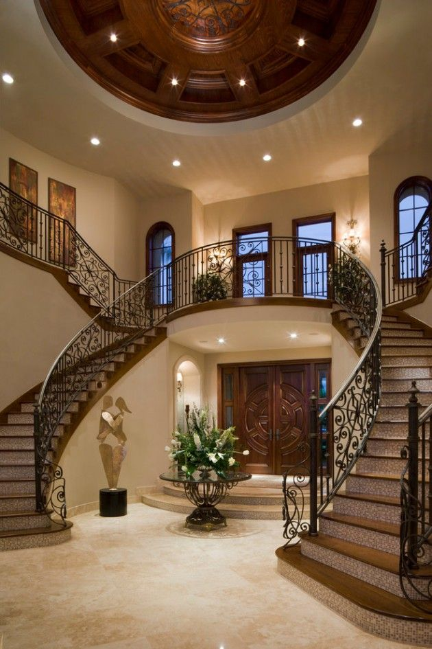 15 Extremely Luxury Entry Hall Designs With Stairs House Dream Home Design Staircase Design