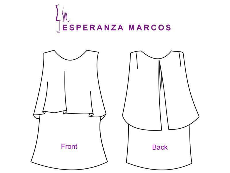 9) Name: \'Sewing : Sizes 6 to 18. Blouse Cape. | blusas | Pinterest ...