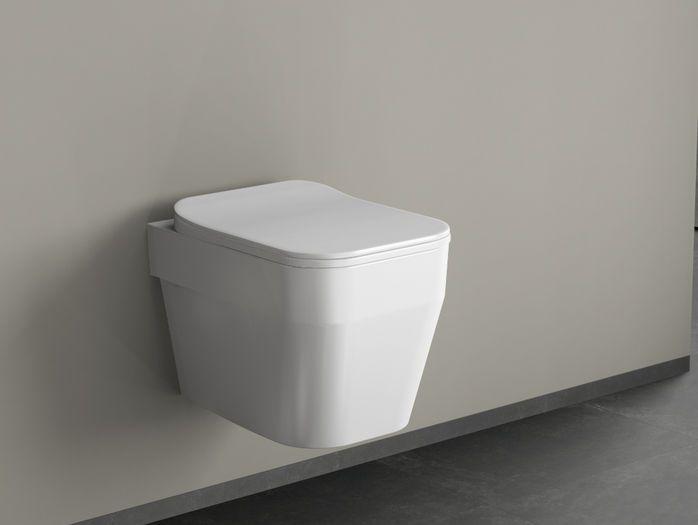 Aqua Bagno SQ Design Hänge WC aus Keramik   Rebenhaus Badezimmer ...