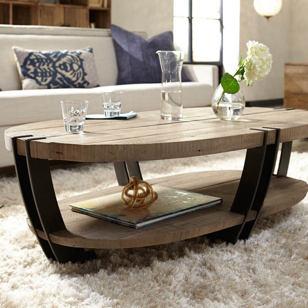 The Marcelo Oval Coffee Table Is An Exceptional Focal Point For Any Living Room Hand Distressing Highl Coffee Table Oval Coffee Tables Coffee Table With Shelf [ 1024 x 1024 Pixel ]