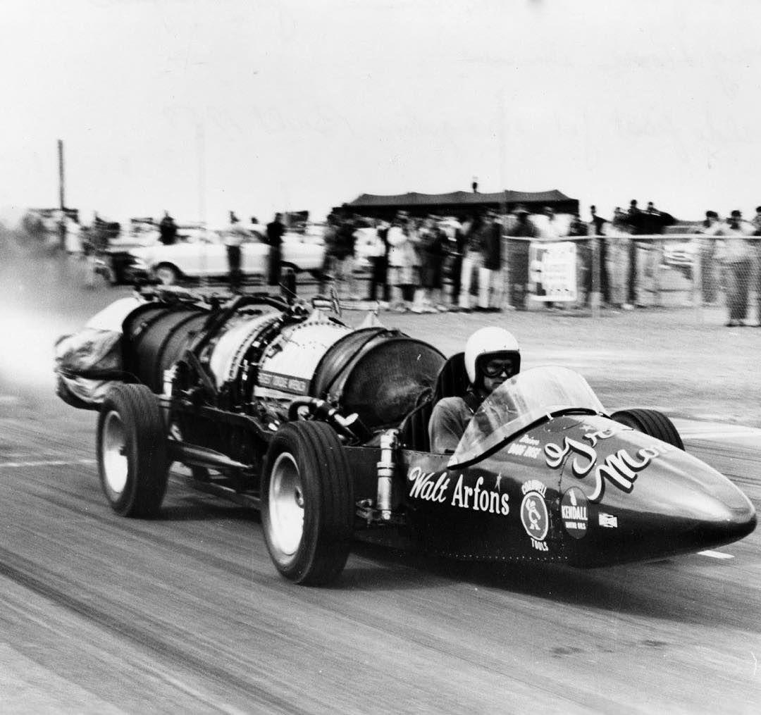 Doug Rose driving Walt Arfons's Green Monster the world