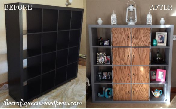 42 Before And After Ikea Expedit Hack Diy Ikea Regal