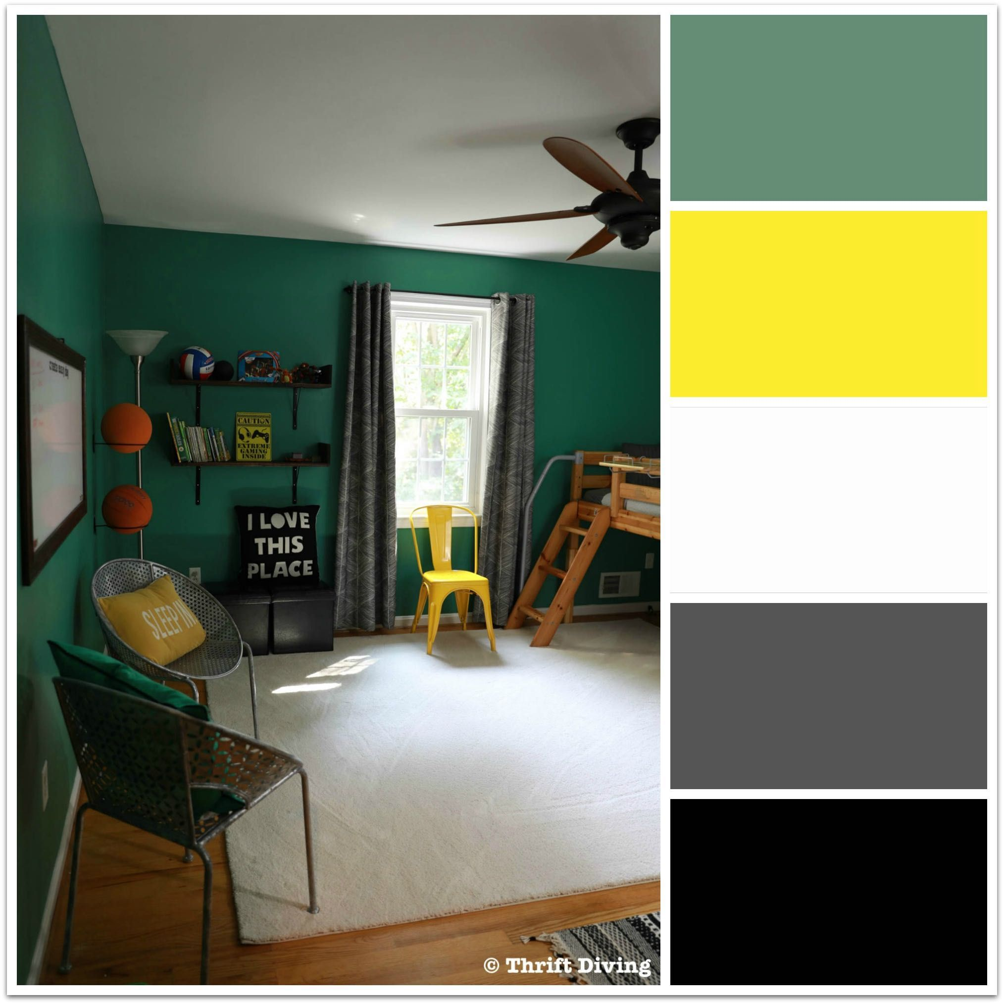 Before Amp After My Boys Green Bedroom Makeover With