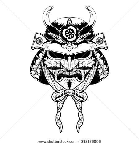 samurai japan mask tattoo casque samoura samourai. Black Bedroom Furniture Sets. Home Design Ideas