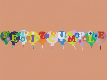 Letreros de feliz cumpleaños de fomi - Imagui