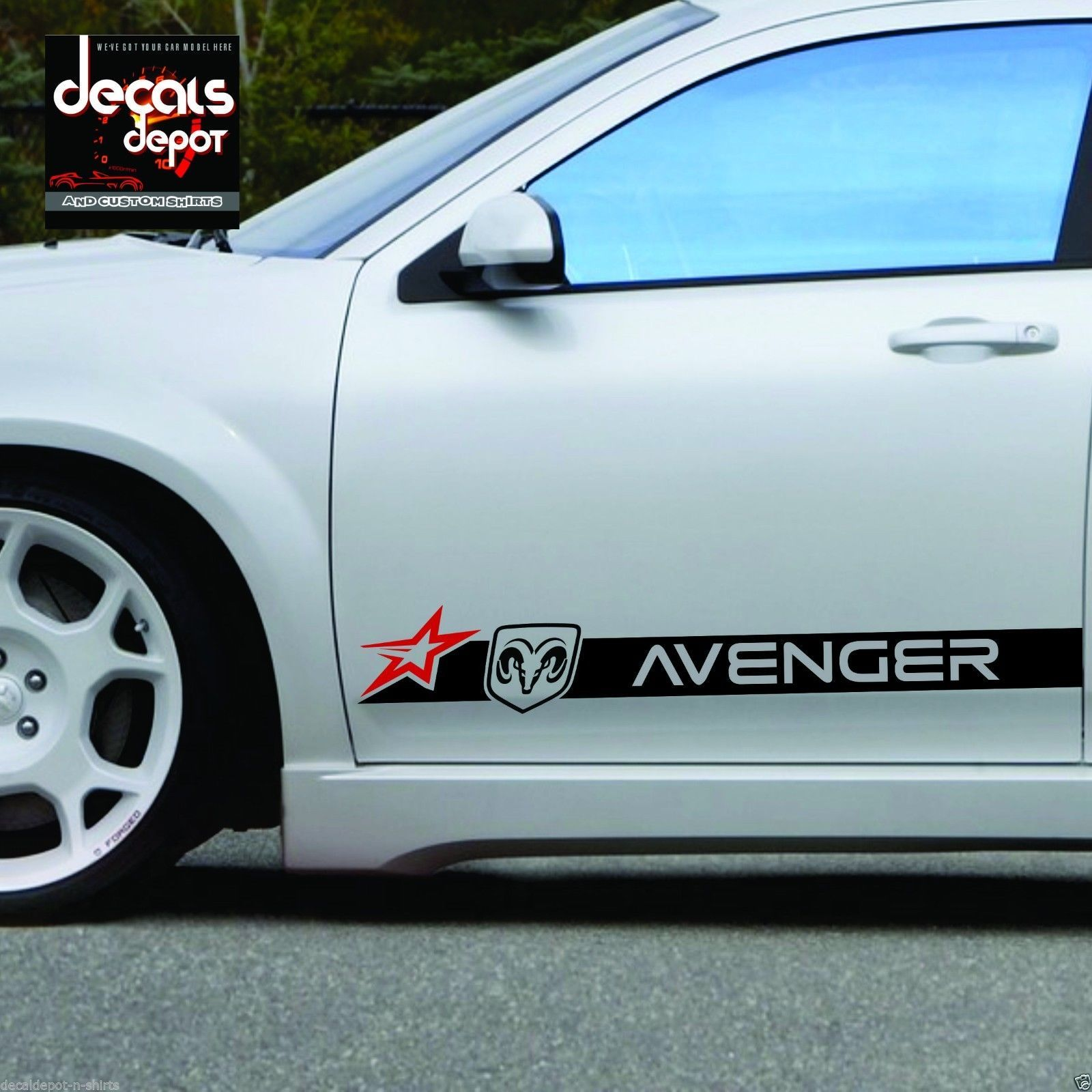 Decal Vinyl Sticker Fits Dodge Avenger 2009 To 2019 Rocker Panel Stripes Ebay Dodge Avenger Dodge Avengers [ 1600 x 1600 Pixel ]
