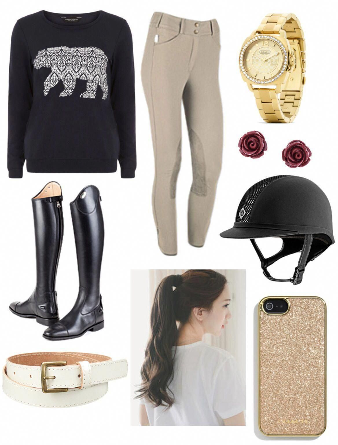 Equestrian fashion...only you can't wear a high ponytail under a riding helmet i...