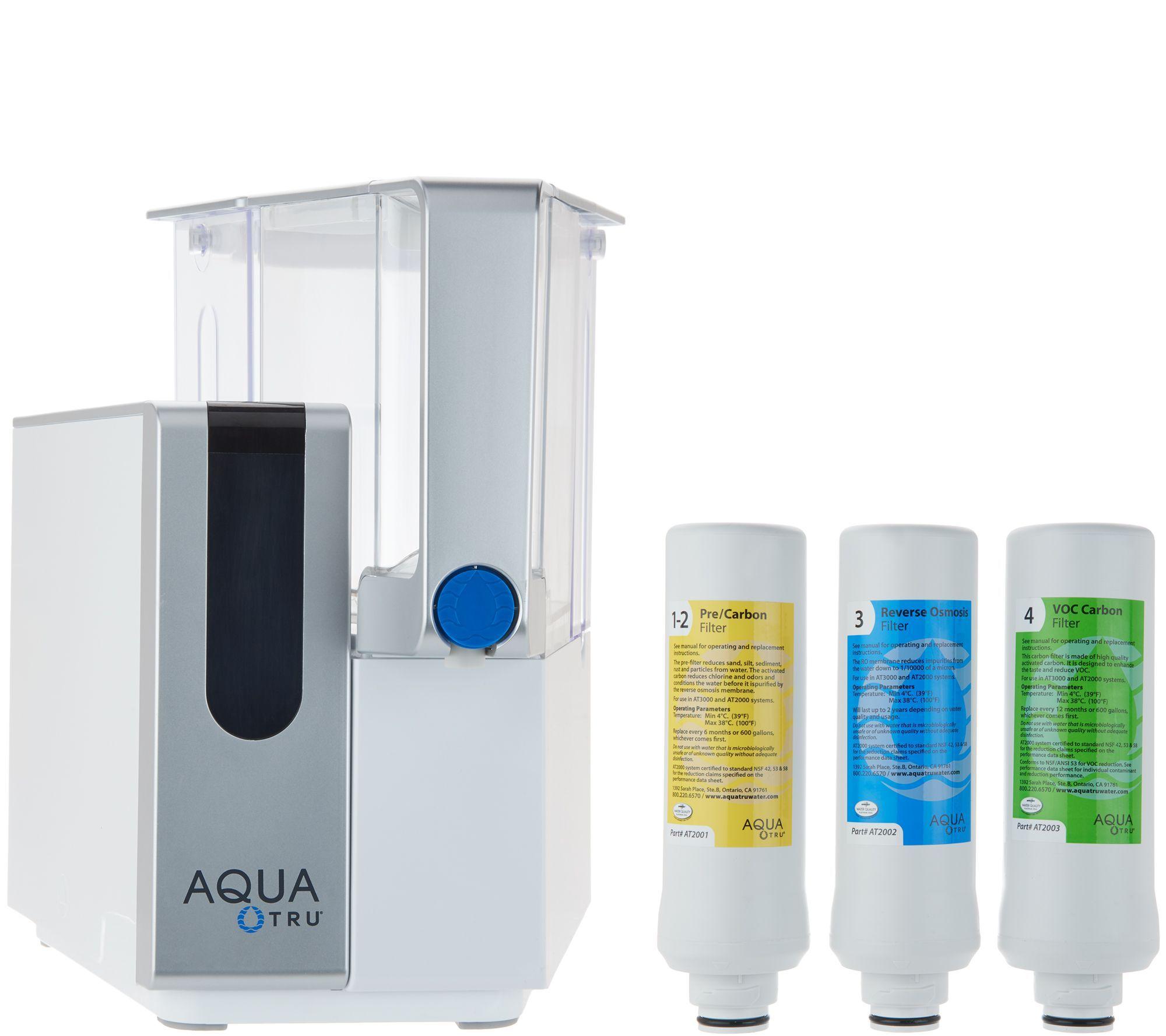 Aquatru Ultra Reverse Osmosis Countertop Water Purifier Qvc Com Reverse Osmosis Water Purifier Countertop Water Filter