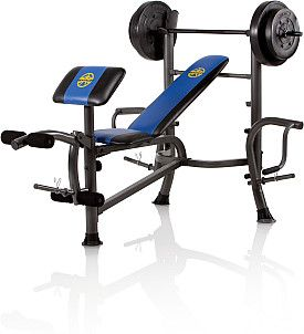 Marcy Standard Weight Bench With 80 Lb Weight Set Weight Set Weight Bench Set Weight Benches