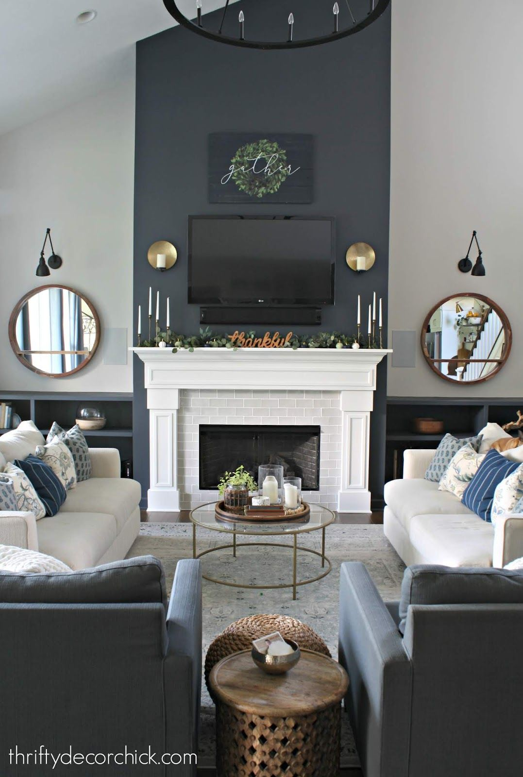 Nontraditional Colors For The Fall Mantel Accent Walls In Living