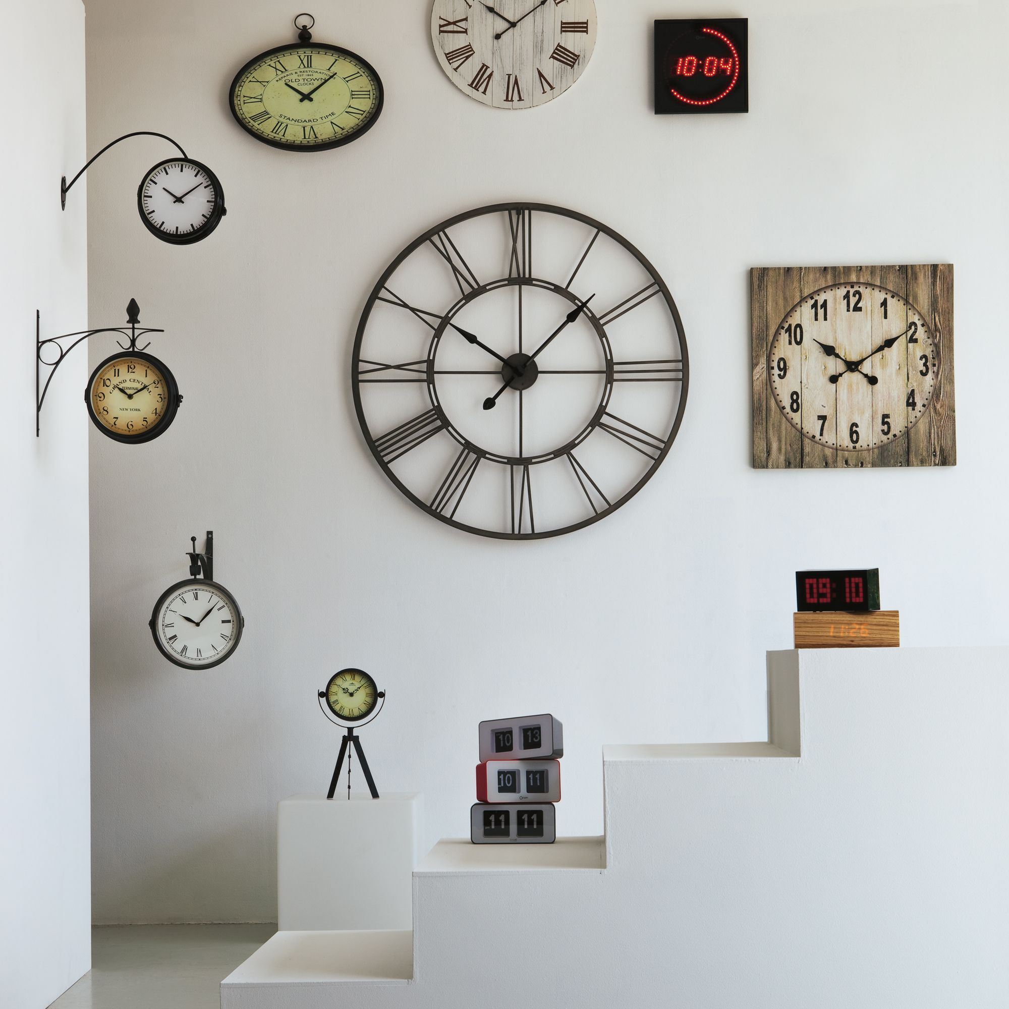 myron horloge murale en m tal d60cm future deco pinterest horloges murales alin a et la deco. Black Bedroom Furniture Sets. Home Design Ideas