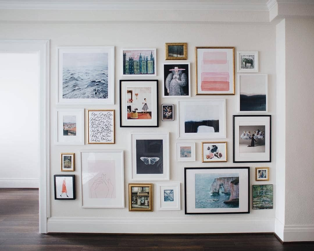 Society6 On Instagram Your Blank Walls Called Make Them Cute Like This Up To 40 Off Art Prints Tap Gallery Wall Living Room Gallery Wall Decor Home Decor #wall #accessories #for #living #room
