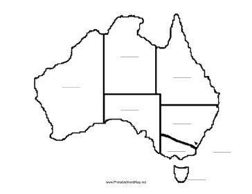 This printable map of the continent of Australia has blank ...