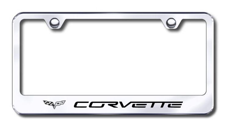 Corvette License Plate Frame License Frames License Plate Frames Chrome Frame