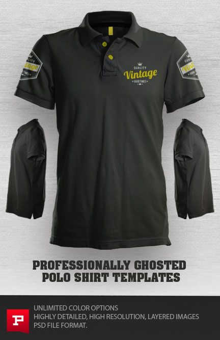 Download Ghosted Polo Shirt Template Psd Prepress Toolkit Polo Shirt Design Polo Design Shirts