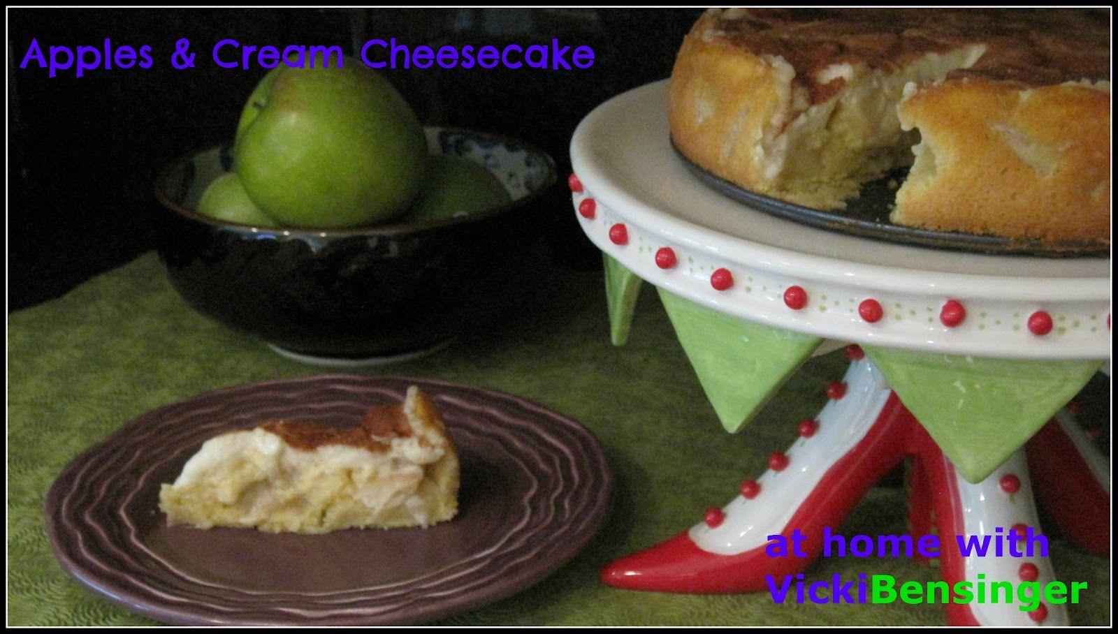 At Home with Vicki Bensinger, In-Home Culinary Classes: Apples & Cream Cheesecake!