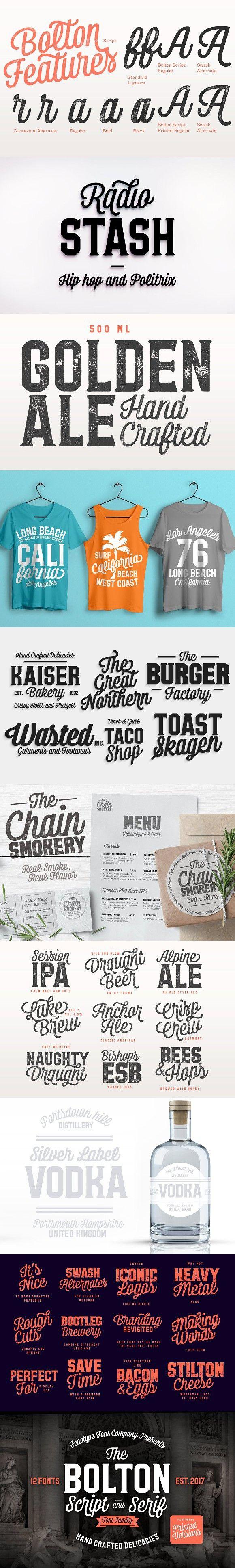 Download Bolton Font Pack -50% off intro sale | Font packs, Modern ...