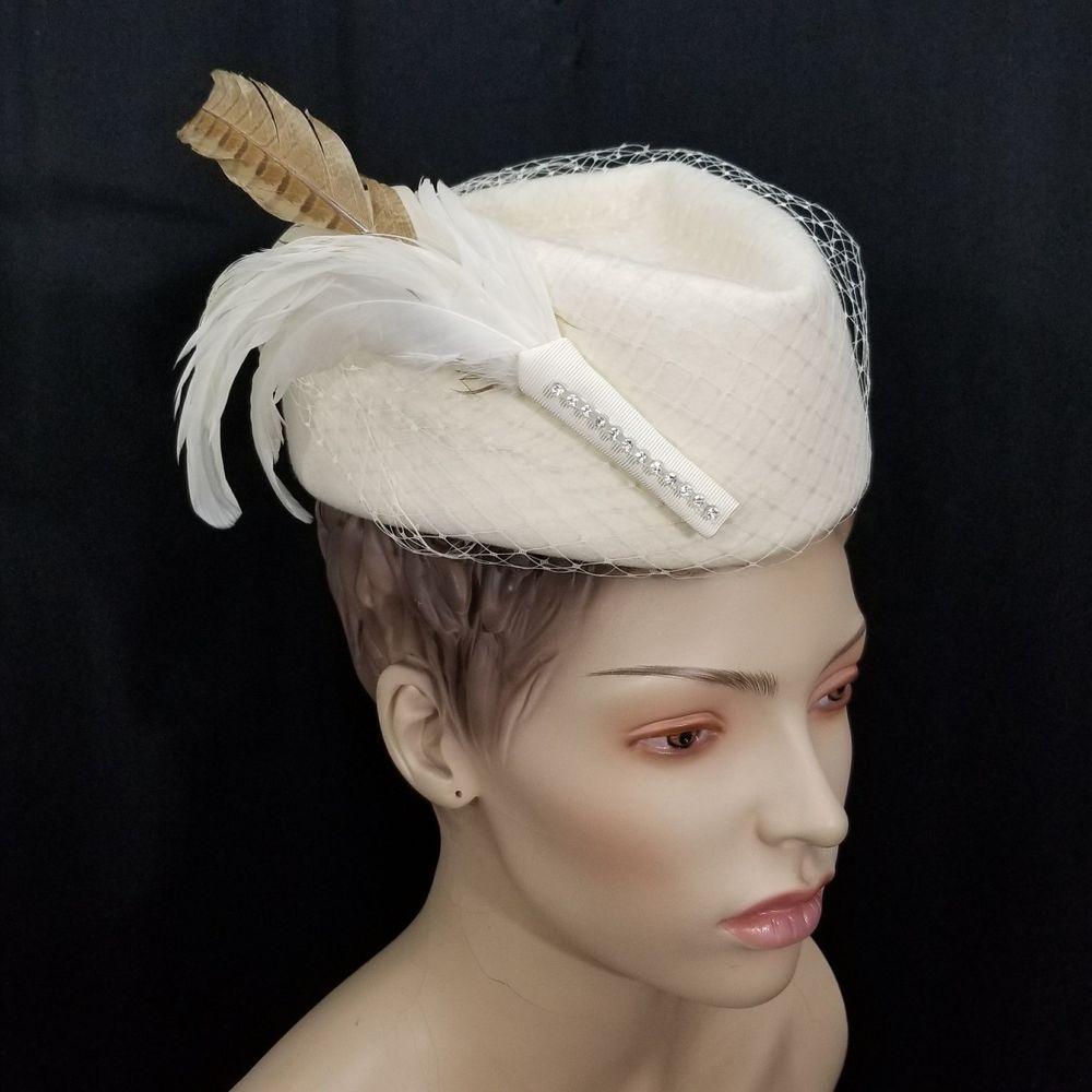 Vintage Michael Howard Wool Hat Miss Bierner Scottie Toque Ivory Fishnet  Mesh  MichaelHoward  Casual 7c4997112d1