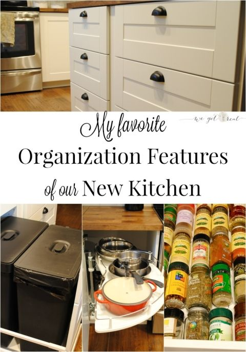 Favorite organization features of kitchen