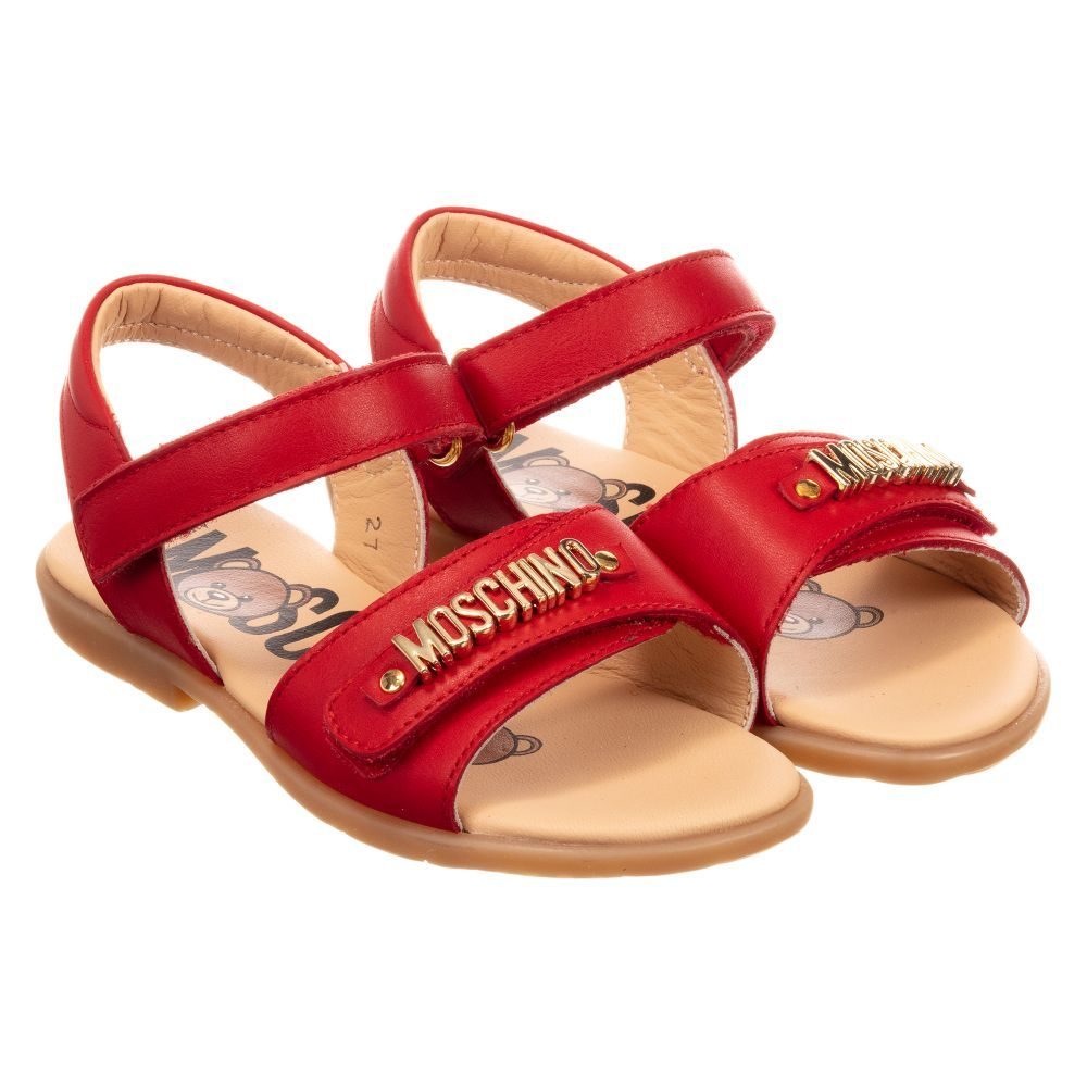 bf0730d9e Moschino Kid-Teen - Girls Red Leather Sandals