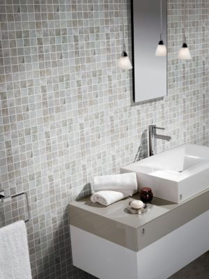 Floor And Decor Bathroom Tile Tarsus Gray Polished Porcelain Mosaic  Gray Polish Mosaics And