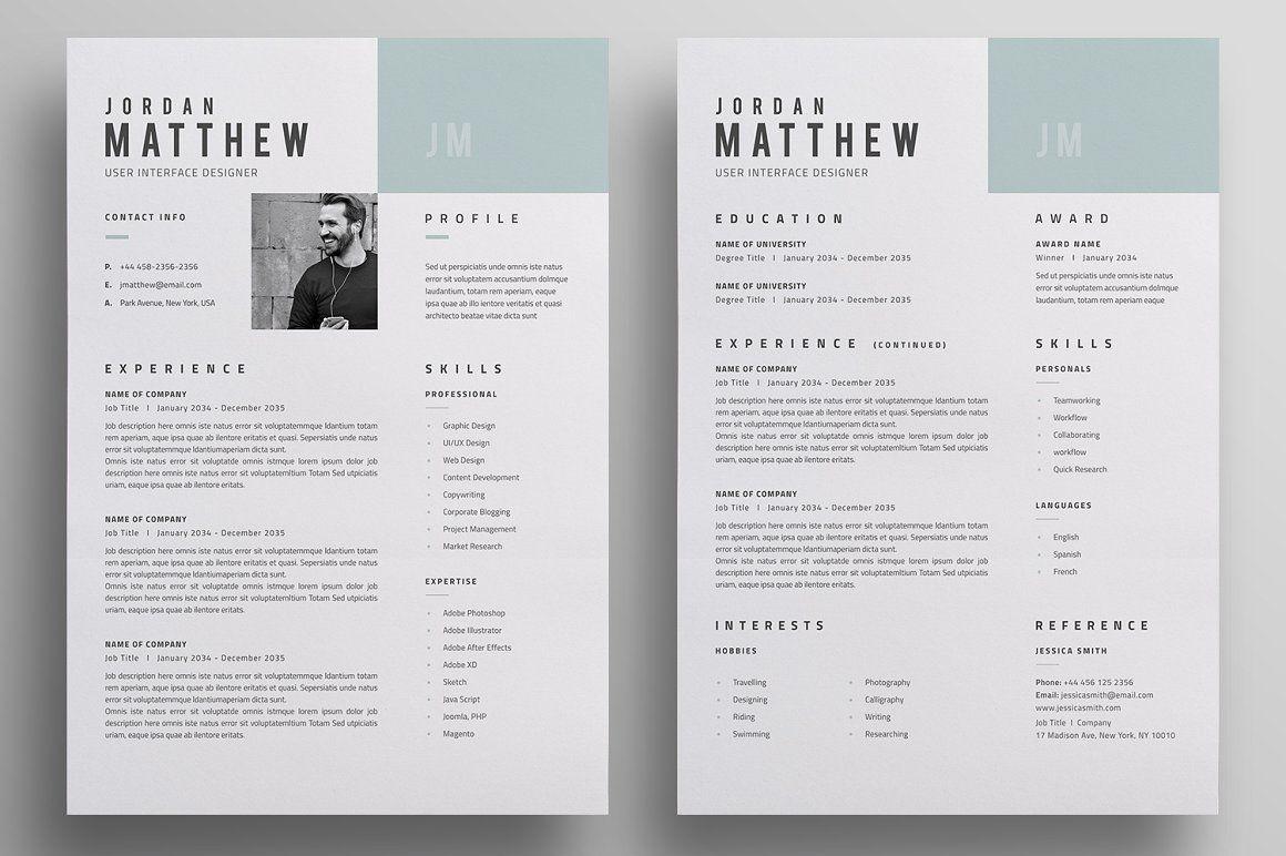 Resume/CV template. CV Resume for your job application. It