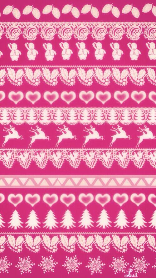 Fair Isle   Nordic alpine Ski wallpaper pink fairy lights #iphone ...