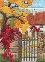 Autumn Garden Long Stitch Kit from Derwentwater Designs