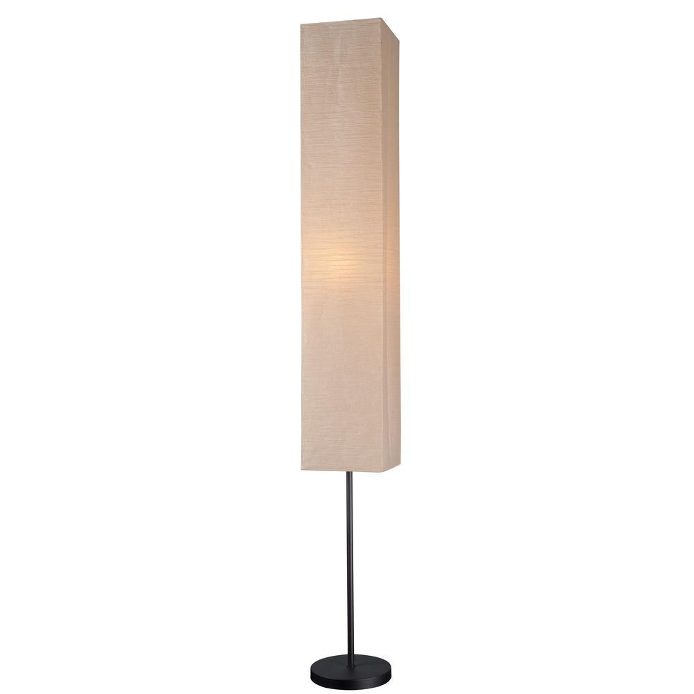 Paper Shade Floor Lamp Beauteous Kenroy Home Beeline 6250 Infloor Lamp With Collapsible Paper Review