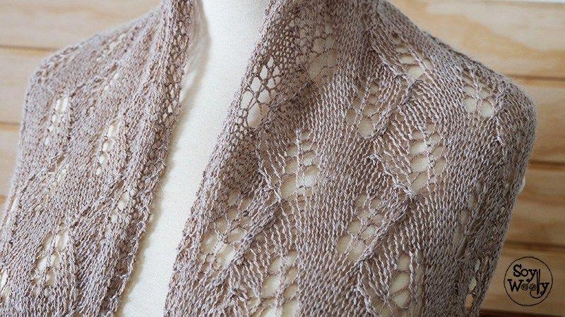 Cómo hacer una Mantilla-Estola-Chal rectangular de Encaje | Knitting ...