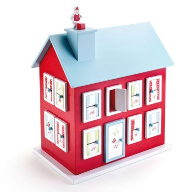 This Advent House could be used as a family heirloom for years to come. You can put little treaures in the windows and have it as a center piece on the table.
