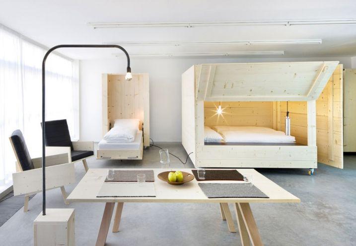 museion01 Bedroom Pinterest Small loft, Studio apartment