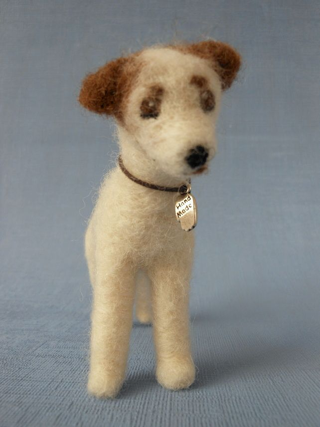 Needle felted dog .... Jack Russell £25.00   ...........click here to find out more     http://googydog.com