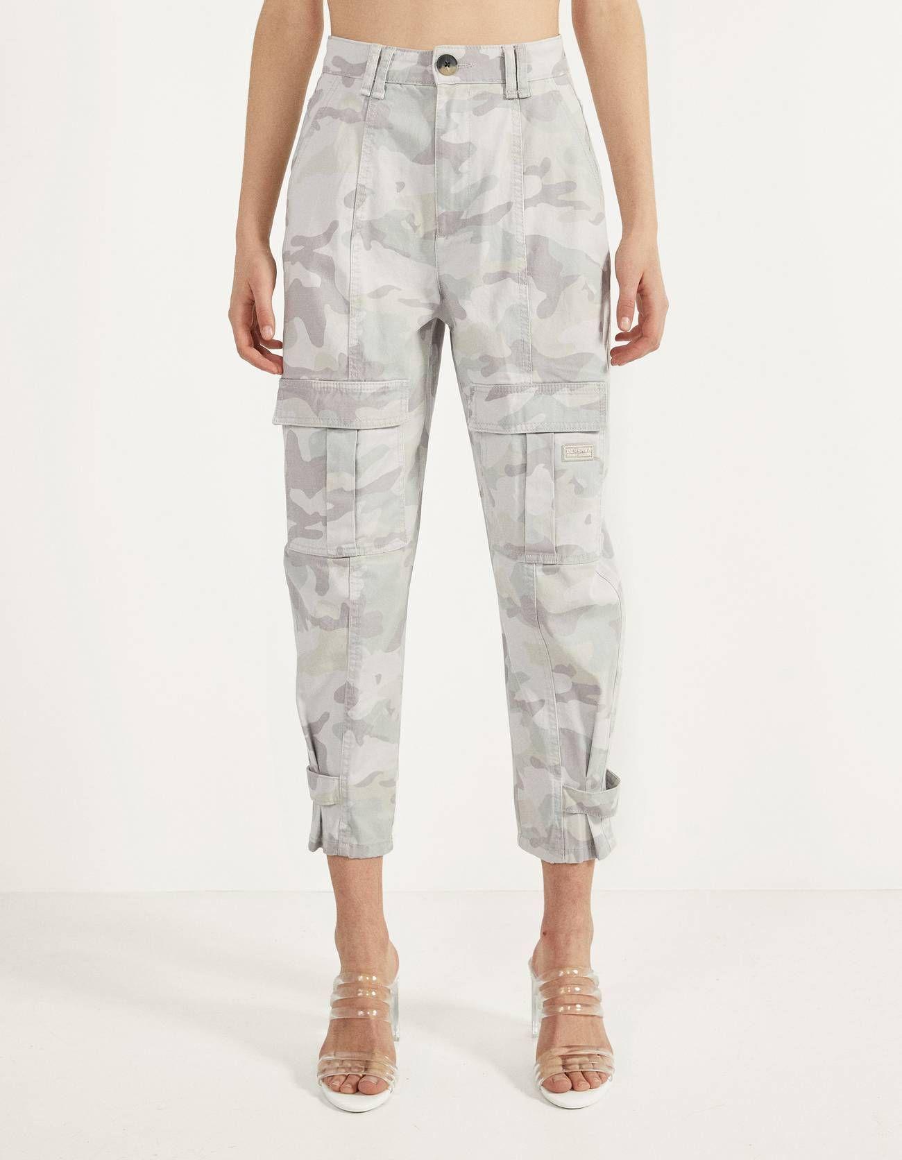 Pantalones Rebajas Mujer Bershka Colombia Pantalones Cargo Bershka Pantalones Estilo Cargo