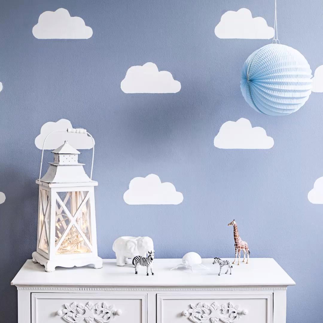 DIY Weswting: Parede de nuvem