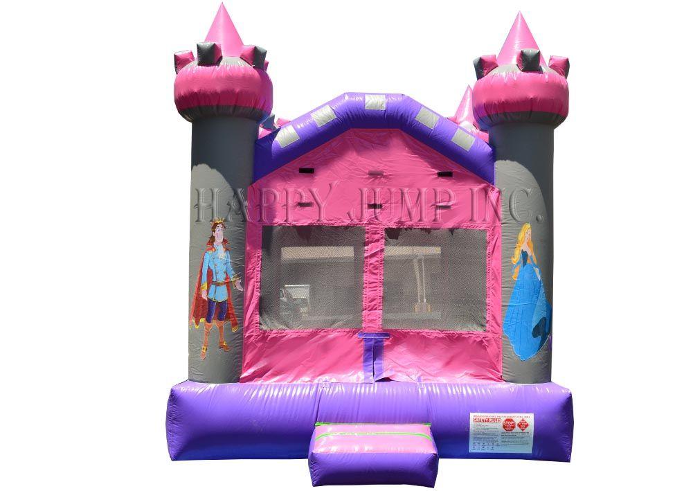 Pink Castle Moonwalks Inflatable Water Slides Bounce