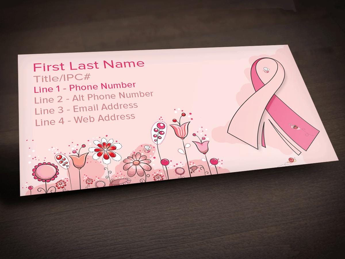 Positively Pink - Business Card Sticker - $40.00 : Upline Printing ...