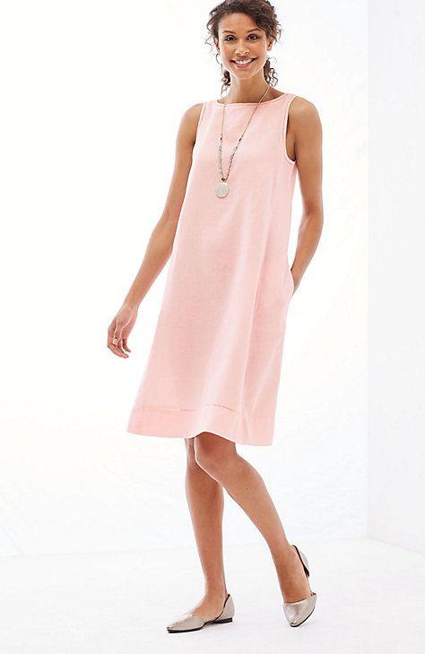 1e66f11afc linen A-line sleeveless dress