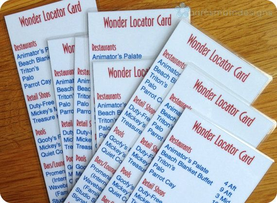 Disney Wonder Ship Locator Bookmark Digital By Aamsmomdesigns - Cruise ship locater