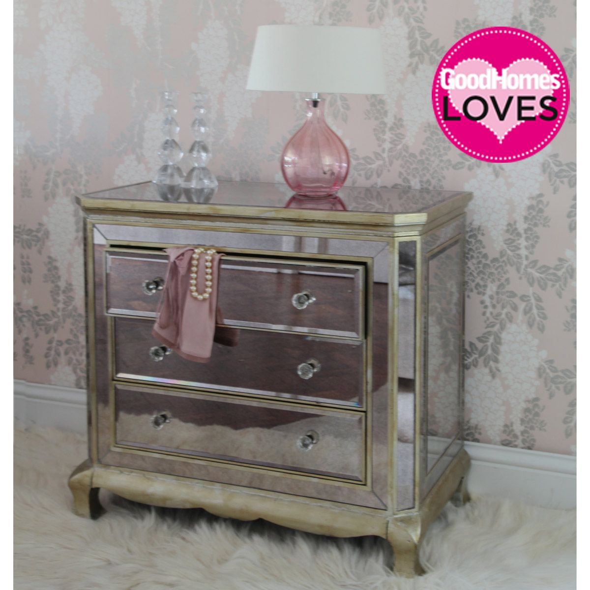 Mirrored Bedroom Furniture Uk Glass Drawers Bedroom