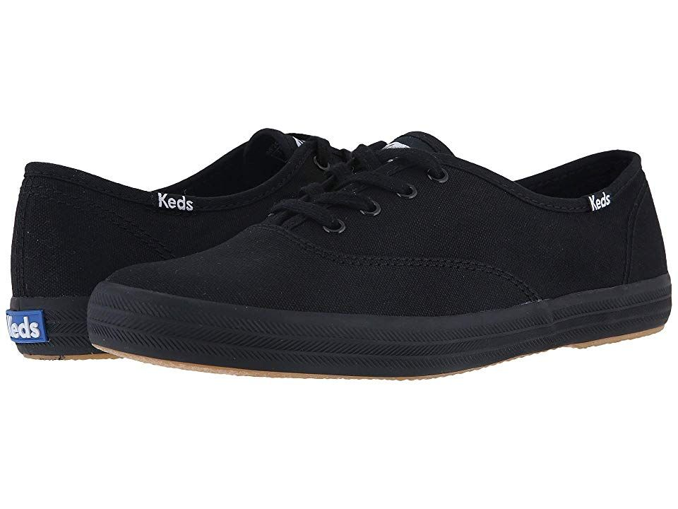 d48fbd0f86bdb Keds Champion-Canvas CVO (Full Black) Women s Lace up casual Shoes. The