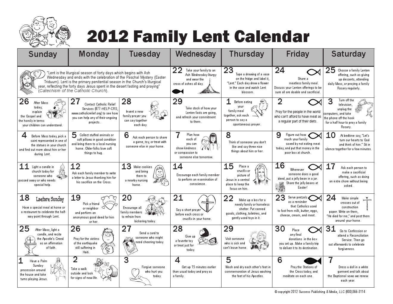 Family Lent Calendar