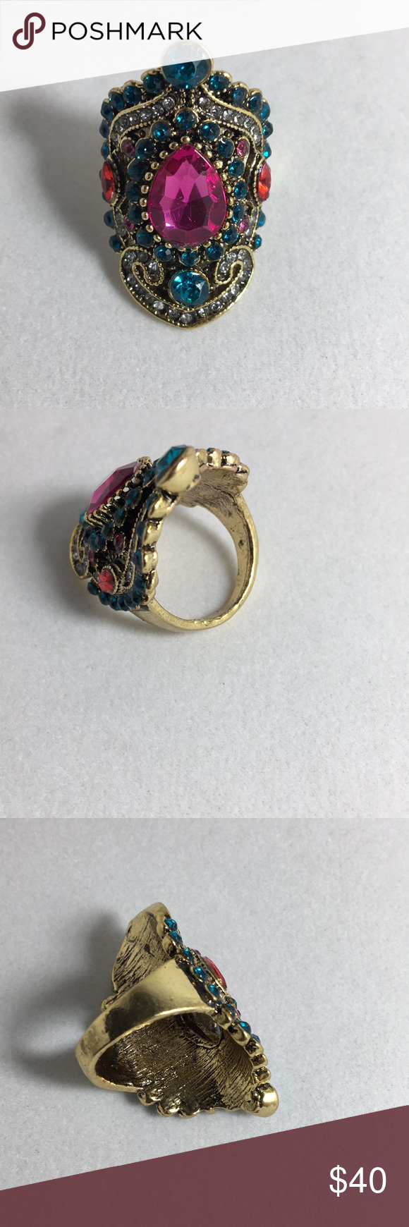 Large intricate statement ring size in my posh closet