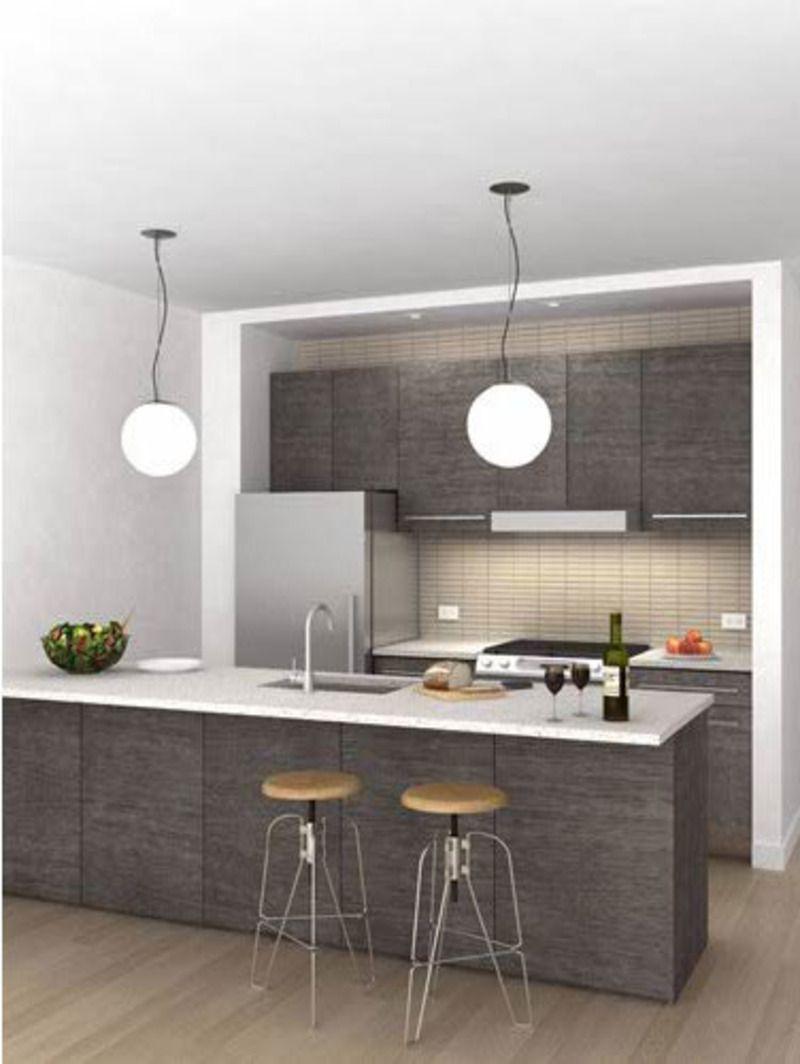 Grey kitchen   Small condo kitchen, Kitchen design small ...