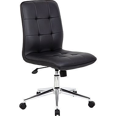 Boss Millennial Modern Faux Leather Computer And Desk Chair Black B330 Bk Olive Children Black Office Chair Ergonomic Office Chair Adjustable Office C