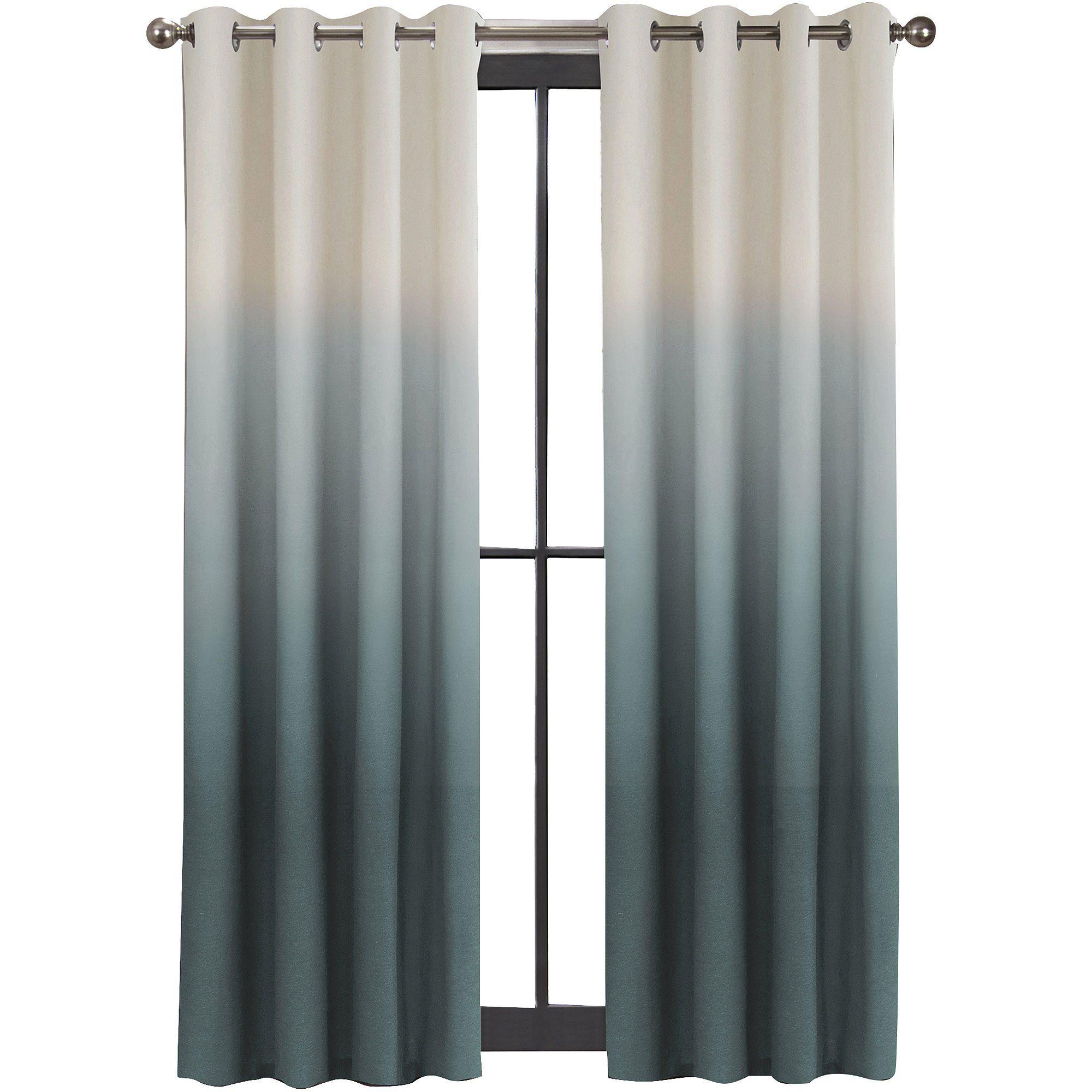 Amazon Com Colordrift Mystic Ombre Grommet Top Curtain Panel