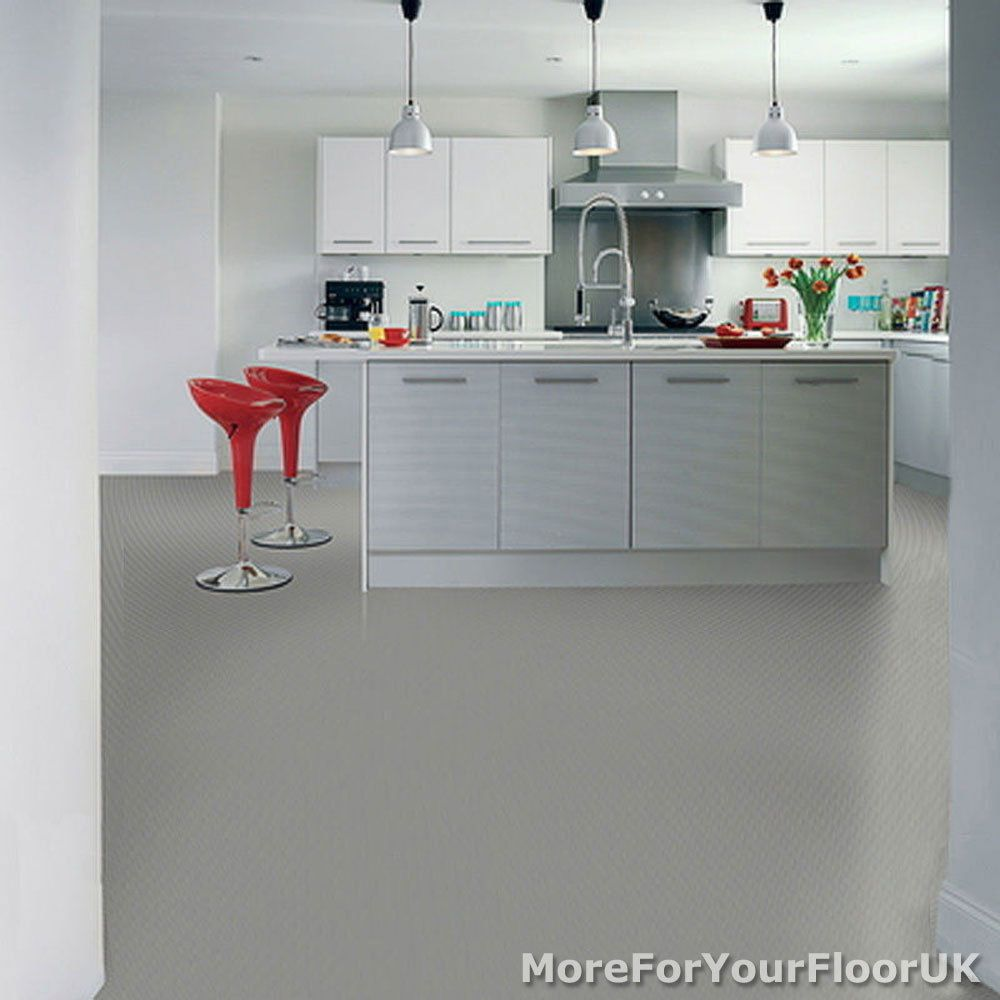 Details About Plain Grey Vinyl Flooring 3m Wide Anti Slip