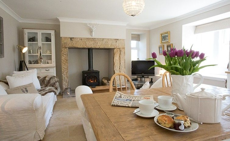 Kitchen Dining Living Room White And Stone Pale Colours Very Family Cosy
